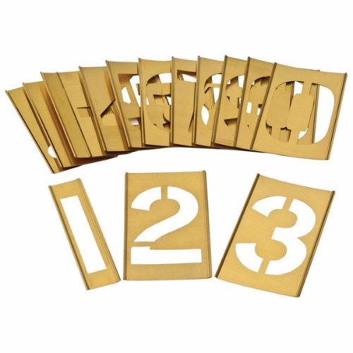 Interlocking Brass Zinc Stencil Kits Numbers 0 9